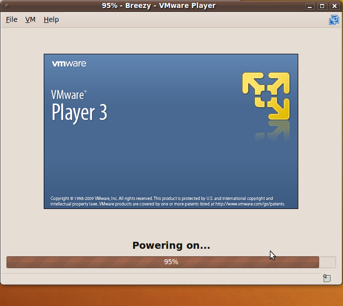 vmplayer3-powering-on