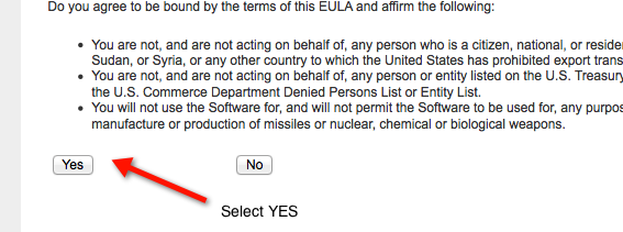 EULA Agree